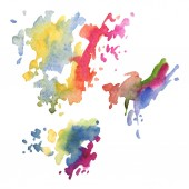 Abstraktní akvarel papír úvodní tvary, samostatný výkres. Aquarelle obrázku pro pozadí.