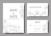 Vector lněné botanické květiny. Šedé, ryté inkoustem. Blahopřání k sňatku-ozdobný okraj.