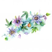 Photo Bouquet floral botanical flowers. Watercolor background illustration set. Isolated bouquets illustration element.