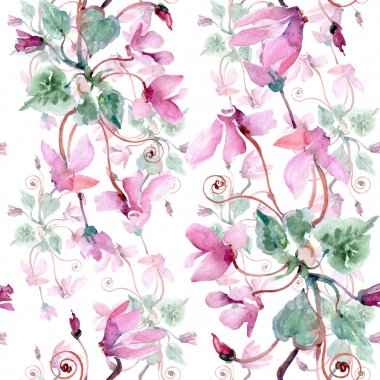Bouquet floral botanical flowers. Wild spring leaf wildflower. Watercolor illustration set. Watercolour drawing fashion aquarelle. Seamless background pattern. Fabric wallpaper print texture. stock vector