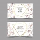Vektorové botanické květiny lnu. Černé a bílé ryté inkoustem. Blahopřání k svatbě.