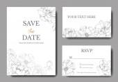 Vector Silver bazsarózsa. Gravírozott tinta művészet. Esküvői háttérkártya. Köszönöm, RSVP, meghívás kártya.