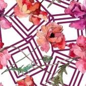 Fotografie Květinové květiny. Vodný obrázek pozadí-barevný. Bezespání vzorek pozadí.