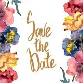 Poppy virágos botanikus virág. Vad tavaszi levél vadvirág elszigetelt. Akvarell háttér illusztráció meg. Akvarell rajz divat Aquarelle elszigetelt. Keretszegély Dísz tér.