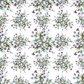 Květinové květiny. Vodný obrázek pozadí-barevný. Bezespání vzorek pozadí.