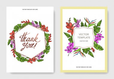 Vector Palm beach tree leaves. Black and white engraved ink art. Wedding background card floral decorative border. Thank you, rsvp, invitation elegant card illustration graphic set banner. clip art vector