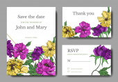 Peony floral botanical flowers. Black and white engraved ink art. Wedding background card floral decorative border.