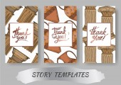 Vector Antique greek amphoras and columns element. Black and white engraved ink art. Wedding background card.