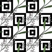 Vektorwildblume Blumen botanischen Blumen. Schwarz-weiß gestochene Tuschekunst. nahtloses Hintergrundmuster.