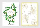 Vektor Wildflowers botanikai virágok. Fekete-fehér vésett tinta művészet. Esküvői háttér kártya dekoratív határ.