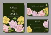 Fotografia Vector Rose floral botanical flowers. Engraved ink art. Wedding background card floral decorative border.