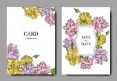 Vektor Rose virágos botanikai virágok. Vésett tintaművészet. Esküvői háttér kártya virágos dekoratív határ.