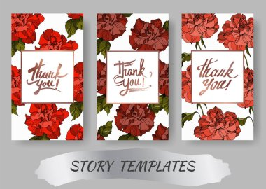 Vector Rose floral botanical flowers. Black and white engraved ink art. Wedding background card decorative border. Thank you, rsvp, invitation elegant card illustration graphic set banner. clip art vector