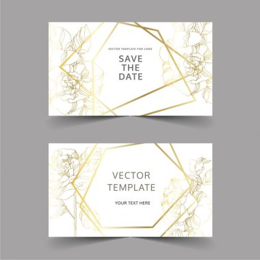 Vector Roses floral botanical flowers. Black and white engraved ink art. Wedding background card decorative border. Thank you, rsvp, invitation elegant card illustration graphic set banner. clip art vector