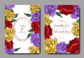 Vektor růže květinové botanické květiny. Černobílý rytý inkoust. Svatební pozadí karty dekorativní okraj.