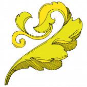 Vektor arany monogram virágdísz. Fekete-fehér vésett tinta művészet. Elszigetelt monogramok illusztrációs elem.