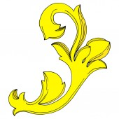 Vektor goldenes Monogramm florales Ornament. Schwarz-weiß gestochene Tuschekunst. Isolierte Monogramme illustrieren Element.