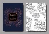Vektor Pivoňka květinové botanické květiny. Černobílý rytý inkoust. Svatební pozadí karty květinové dekorativní okraj. Děkuji, rsvp, pozvání elegantní karta ilustrační grafický set banner.