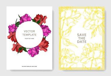 Vector Peony floral botanical flowers. Black and white engraved ink art. Wedding background card floral decorative border. Thank you, rsvp, invitation elegant card illustration graphic set banner. clip art vector