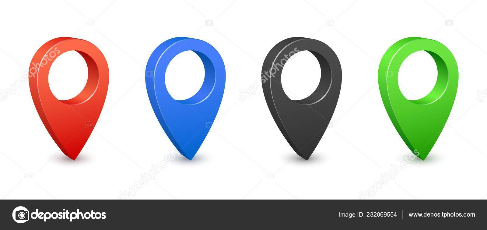 Pin map place location 10d icons. Color gps map pins. Place ...