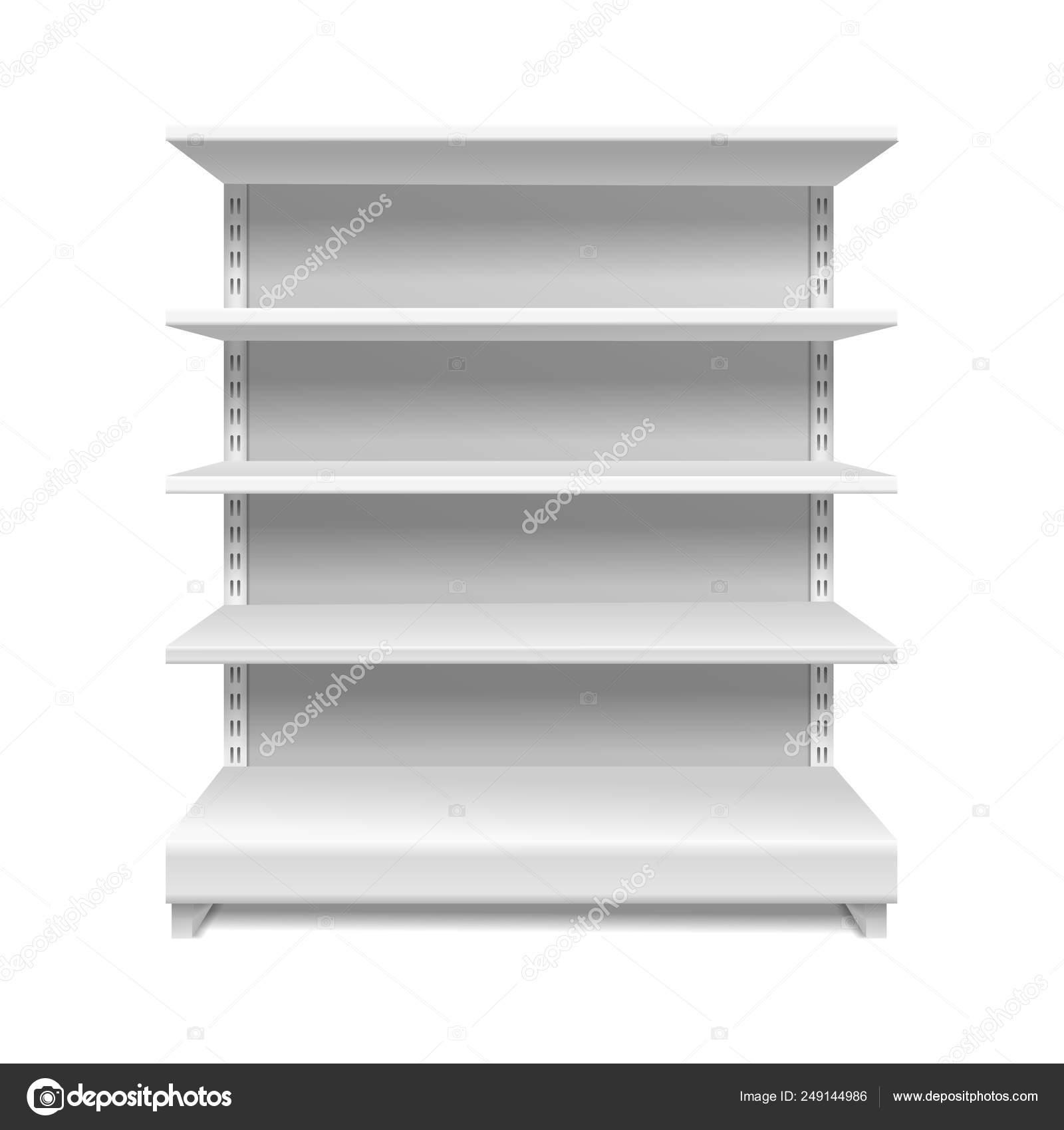 Białe Półki Sklepowe Handel Detaliczny Sklep Rack Regały