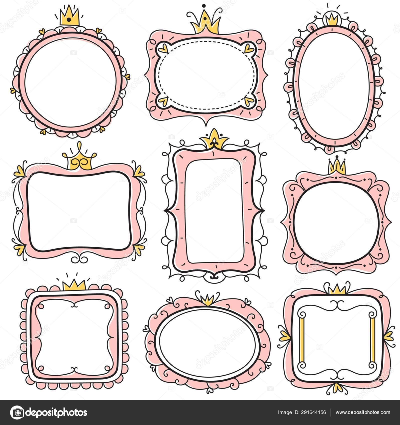Marcos De Princesa Marcos De Espejo Floral Rosa Lindo Con