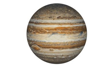 Jupiter Planet isolated in white, Elements of this image furnished by NASA
