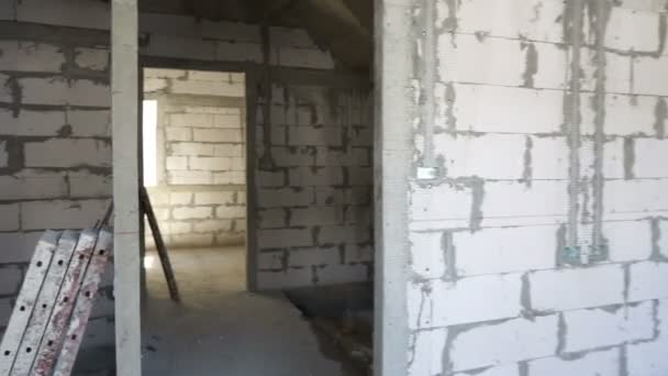 Unfinished room at construction site