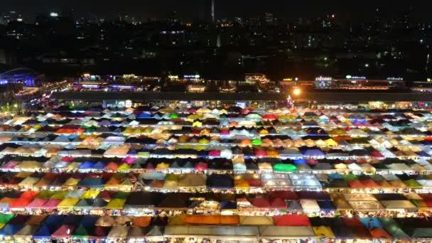 Time lapse view of night market in Bangkok