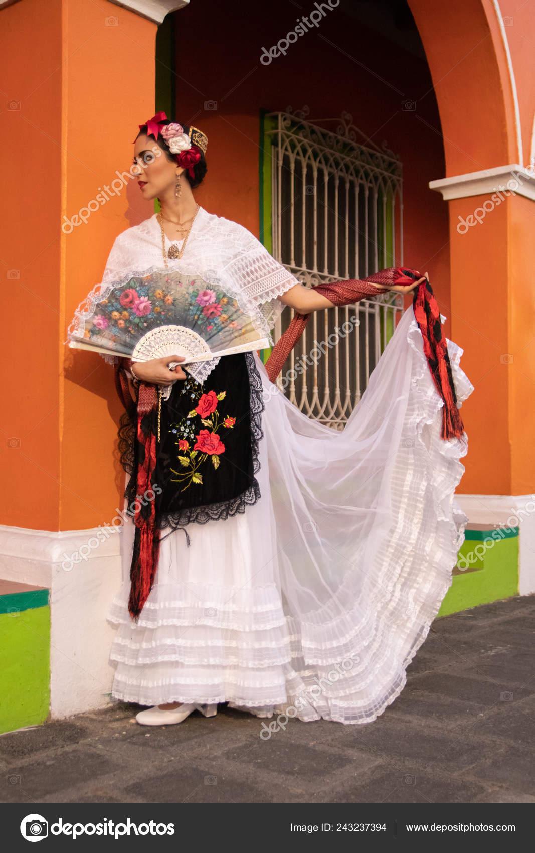Vestido Distintivo Típico Veracruz Zona Sur México Fotos