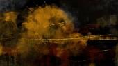 A sötét absztrakt háttér digital art festészet