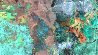 colorful abstract background in digital art