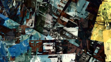 Urban city colorful abstract background in digital art