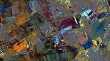 psychedelic colorful abstract background in digital art