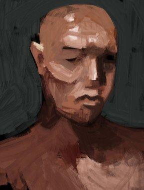 """Картина, постер, плакат, фотообои """"цифровая традиционная живопись портрета человека фото фотографий примеры модульные"""", артикул 253266824"""