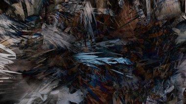 Abstract modern art nature geologic rock mountain painting illustration