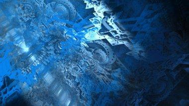 Abstract geologic rock formation, digital art