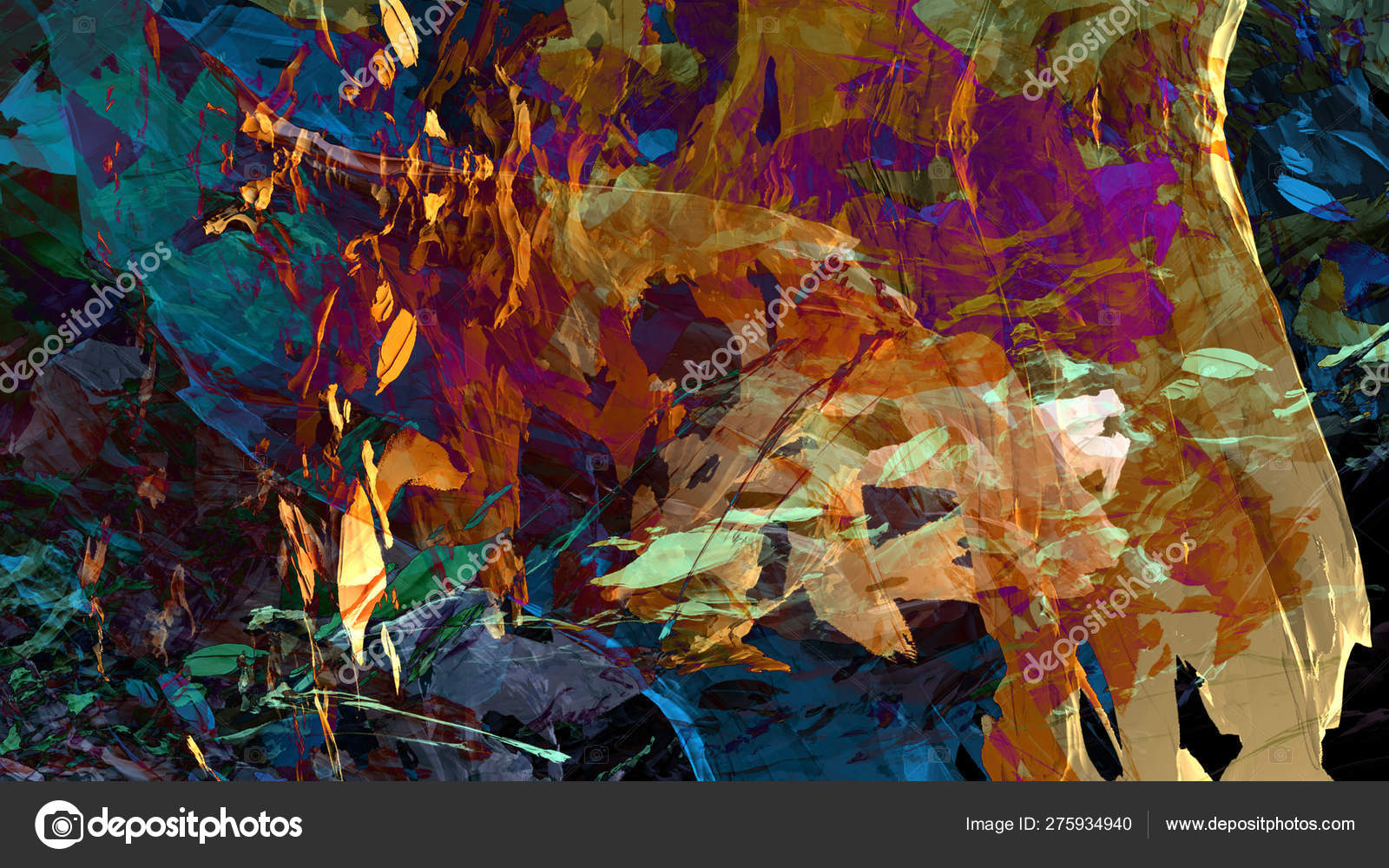 Abstract material colorful texture mountain landscape paint digital illustration psychedelic background