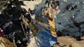 digitální ilustrace povrchového abstraktního pozadí