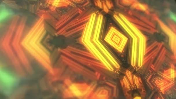abstrakte nahtlose geometrische Spiegelmuster Kaleidoskop Unschärfe Zoom Digitalvideo