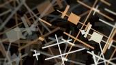Abstraktní geometrické linie struktura kov konstrukce styl chaos moderní umění ilustrace barevné textury vzorek pozadí