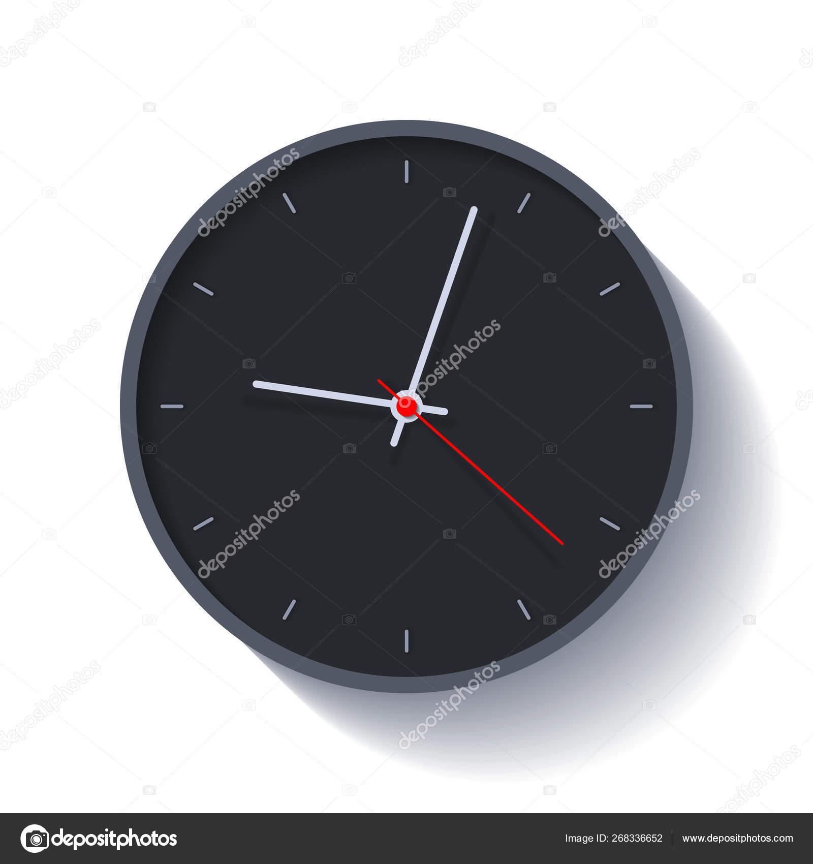 Orologio sfondo bianco o nero