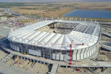 Construction of the stadium. New stadium, sports facility