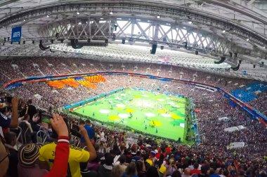Sochi, Russia - June 15, 2018: Sochi, the stadium fisht. The fans filled the stadium. Match Portugal vs Spain