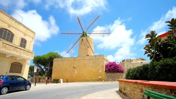 XAGHRA, MALTA - JUNE 15, 2018: The preserved Ta' Kola Windmill is the fine example of medieval architecture with restored milling machinery and traditional tools, Gozo Island, on June 15 in Xaghra.