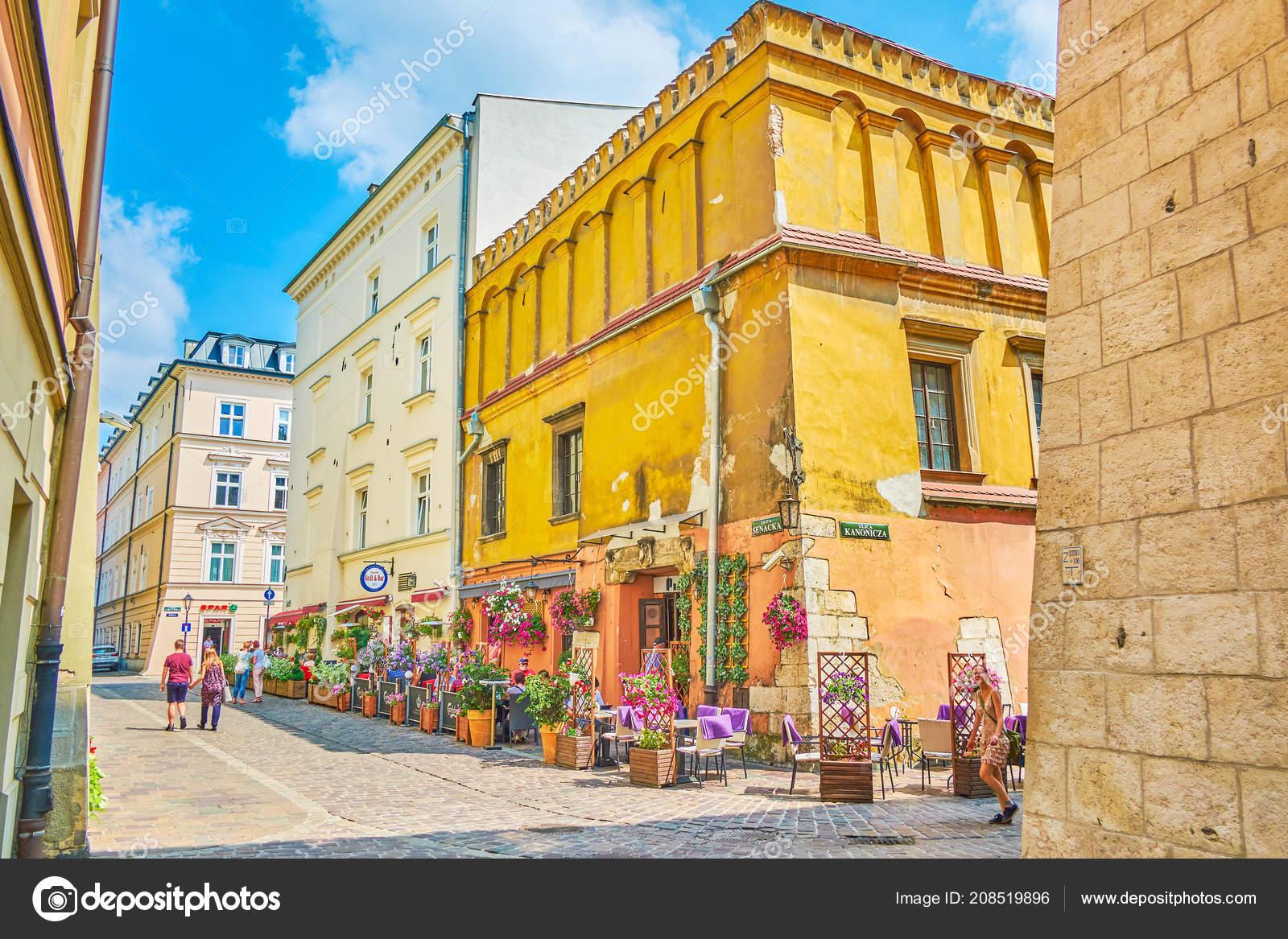 Cracovia Polonia Junio 2018 Verano Escénico Terraza Del