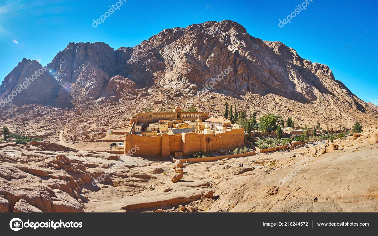 Panorama Sacred Monastery God Trodden Mount Sinai Catherine