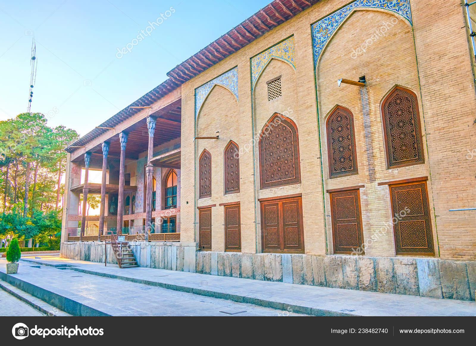 Isfahán Irán Octubre 2017 Palacio Chehel Sotoun Cuenta Con