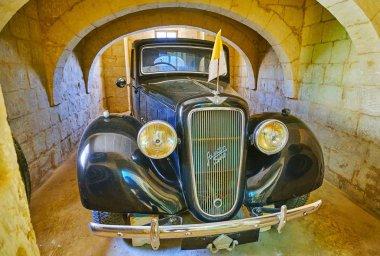 Vintage car in Wignacourt museum, Rabat, Malta