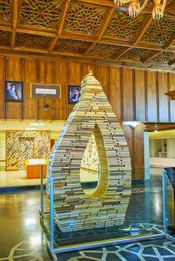 The entrance hall of Malek museum, Bagh-e Melli quarter, Tehran,